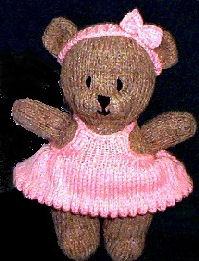 Knitting Pattern Central Free Pattern Bitsy Bear