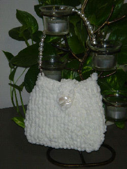 Knitting Pattern Central Bags : Knitting Pattern Central - Free Pattern - White Bedazzle ...